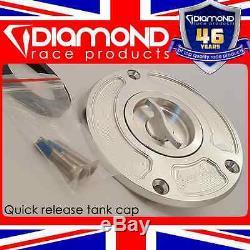 Diamond Race Products Yamaha Quick Release Tank Fuel Cap R1 R6 Fz1 Fz6 Fzr400