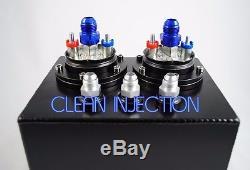 Dual AEM 50-1005 380LPH -8 an8 8an 6an -6 an6 Fuel Pump 3L surge tank 044 bosch