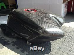 Ducati 1198 Carbon Petrol Tank, CRC Race Fairing, Carbon Seat, Standard Tank