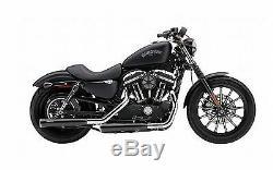 Echappements Cobra Rpt Race Pro Noirs Harley Davidson Sportster 2014-2018