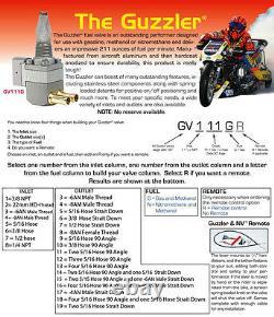 Fits Suzuki Pingel Guzzler Race fuel tap. Quad 5/16 outlet. 3/8 NPT tank fitting