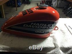 Harley Davidson Custom Paint 883R race bike fuel / gas tank ONE OFF! Man Cave