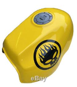 Honda CB500 Race Fuel Tank, Yellow, 1992-2003 With Tap And Filler With Key