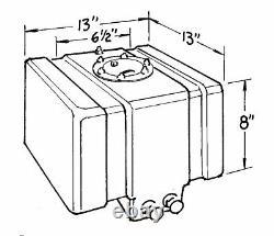 JAZ Black Plastic 5 gal Drag Race Fuel Cell P/N 250-005-01