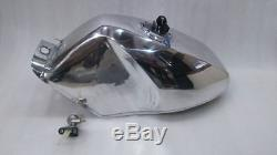 New Yamaha Tzr Tzr250 Aluminium Polished Race Spec Petrol Tank With Cap And Tap