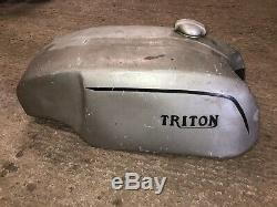 Norton, Triton Slimline Alloy Fuel Tank, Petrol Tank Vintage Road Race, Cafe Rac