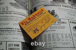 Original 1962 VIC HUBBARD CatAlog HOT ROD & Custom Drag Racing nhra Gasser Boat