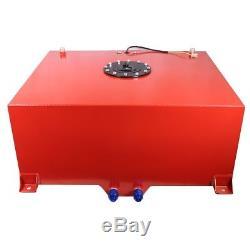 Polished Aluminum 20 Gallon Race Drift Fuel Cell Tank & Level Sender Hot Rod V8