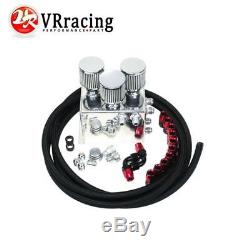 Power Driven OIL CATCH TANK CAN / BREATHER TANK RACE KIT FOR Honda Acura VTEC