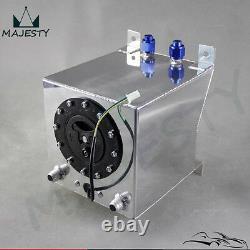 Racing Drift Fuel Cell Tank 9.5 Liter +Level Sender 2.5 Gallon Polished Aluminum