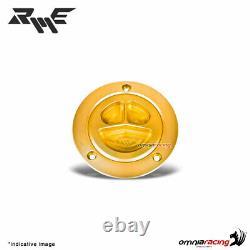 Robby Moto gold ergal fuel tank cap racing for Kawasaki ZX6R 2004