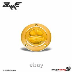 Robby Moto gold ergal fuel tank cap racing for Mv Agusta F4/Brutale 2002