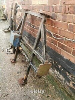 Solid Banger Racing Roll Cage with fuel tank welded on