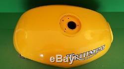 Triumph Fuel Petrol Tank Racing Yellow Speedtriple 900 Daytona Super 1200 #0012