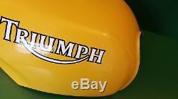 Triumph Fuel Petrol Tank Racing Yellow Speedtriple 900 Daytona Super 1200 #0022