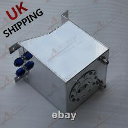 Universal 5 Gallon/20L Polished Aluminum Racing Drift Fuel Cell Tank & Foam UK