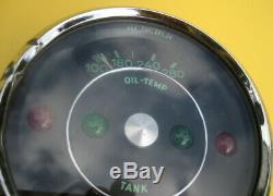 Vintage Race Competition Porsche 356 C Oil Temp Tank Fuel Gauge Turn Indicator