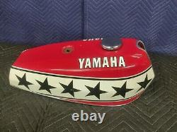 Vintage Yamaha kenny robberts Flat Track Racing Fiberglass Fuel Tank Gas Used